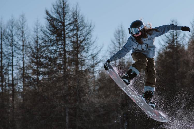 snowboarderka
