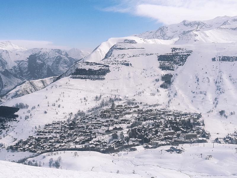 Les Deux Alpes widok na miasto