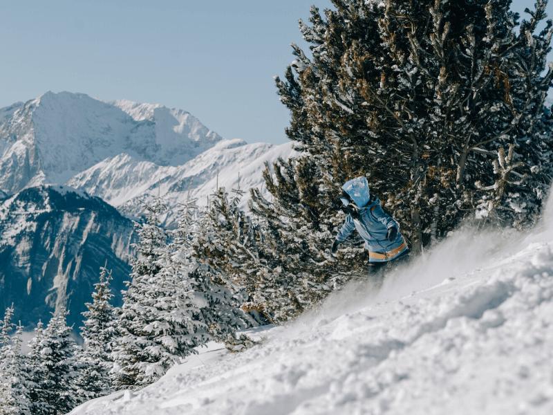 snowboarderka freeride